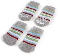Hunde - Jede Saison - Baumwolle Grau - Socken & Schuhe