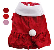 Dog Coat Red / Pink Dog Clothes Winter Solid Cute / Christmas