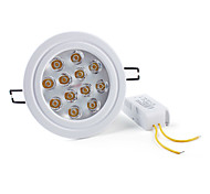 12 W 12 High Power LED 1200 LM Warm White Recessed Retrofit Recessed Lights/Ceiling Lights AC 85-265 V