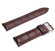 Unisex Leder Armband 24mm (braun)