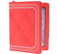 brodé étui en cuir PU avec support pour iPad 2/3/4 (couleurs assorties)