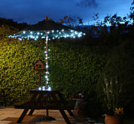 Solar-100-LED White Light Outdoor-Lichterkette Weihnachtsdekoration Lampen