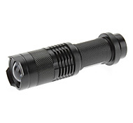 LED Flashlights / Handheld Flashlights LED 3 Mode 280 Lumens Cree XR-E Q5 AA Black Aluminum alloy