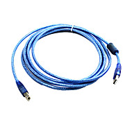 100% Copper 128 USB2.0 AM to BM Printer Cable with Magnetic loop (3 m)