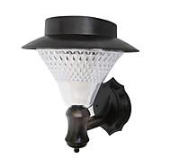 8 - LED White Solar Powered Wall Mounted Garden Light
