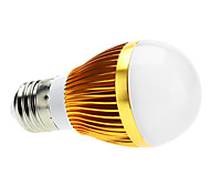 E26/E27 6 W 3 High Power LED 600 LM Natural White A Dimmable Globe Bulbs AC 220-240 V
