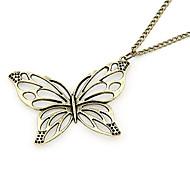 cobre antiguo hueco de salida mariposa collar