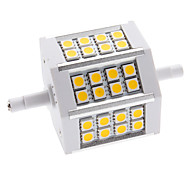 R7S 5W 24 SMD 5050 350 LM Warm White / Cool White LED Corn Lights AC 85-265 V