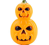 Halloween Pumpkin Style Hand Lamp Lantern with Red/Blue LED Flashing Light (3 x AG13)
