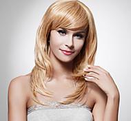 capless longue synthétique de haute qualité perruque de cheveux blonds staight