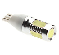 T15 8W 450-500LM Natural White Light LED Bulb for Car Reversing/Side Marker Lamp (12V)