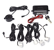 Parking System with 4 Radar+Control Box+Buzzer,Silver