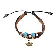Z&X®  Leather Bracelet Multilayer Vintage Bracelet with Crown