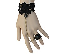 Lolita Jewelry Classic/Traditional Lolita Bracelet/Bangle Lolita Black Lolita Accessories Bracelet Lace For Women Lace / Alloy