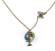Terrestrial Globe Shape Copper Necklace