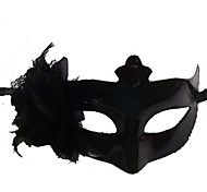 Lace Flower Pure Black Plastic Half-face Mask