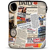 Barbola 10 Zoll Neopren Tablet Hülle für Samsung Galaxy P5100/N8000/iPad/Motorola Xoom im Zeitungs Design