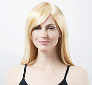 Capless Extra Long Synthetic Light Blonde Straight Hair Wig