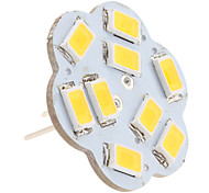 G4 4.5W 9x5630 SMD 400-430LM 3000-3500K Warm White Light Lotus Shaped Vertical Pin LED Spot Bulb (12V)