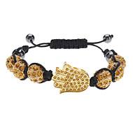 Palm Type Braided Fully-Jewelled Bracelet