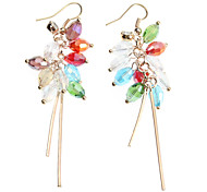 Colorful Water-shaped Crystal Earrings