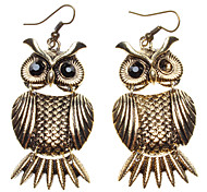 Gold Owl Alloy Ohrringe
