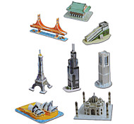 DIY Paper 3D Puzzle Mini Architecture Set (144pcs, No.2802-F)