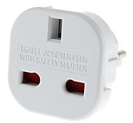 EU-Stecker auf Multiple-Plug Universal-Round Travel Adapter mit Safety Shutter (110-240V)