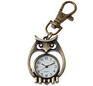 Unisexe hibou Conception en alliage Quartz Analogique Keychain Watch (bronze)