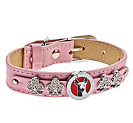 Adjustable Rhinestone Club Style Collar for Dogs (Neck: 15-25cm/5.9-9.8inch)