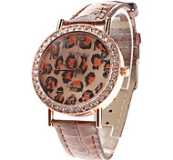 Women's Leopard Print Dial PU Band Quartz Analog Wrist Watch (Assorted Colors) Cool Watches Unique Watches