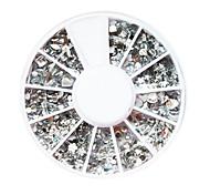 Décorations en plastique blanc Twinkle Nail Art de formes