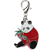 Cat / Dog Tag Panda Red Metal