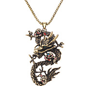 Z&X®  China Dragon Diamond Inlaid Necklace