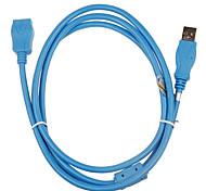 USB macho a hembra Cable de extensión de 2,0 (3m)