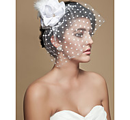 Beautiful Velvet And Feather Bridal Hat/Headpiece