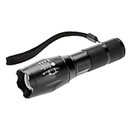 LED Flashlights / Handheld Flashlights LED 3 Mode Lumens Adjustable Focus Cree XM-L T6 AAA Others , Black Aluminum alloy