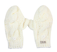 Deniso—Women's Hand Woven Acrylic Fibers Gloves(White and Red)