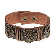 Lion Heart Shape Leather Bracelet