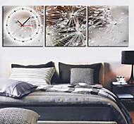 moderno reloj de pared escénica en la lona 3pcs k0027