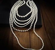 Women's Layered Pearl Necklace