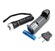 ultrafire zoom de 3 modos del CREE XR-E Q5 set linterna led (200lm, 1xAA)