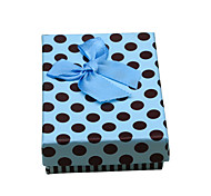 Lureme®Blue Jewelry Gift Box With Blcak Point
