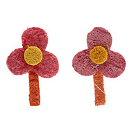 Dogs / Cats Toys Chew Toy / Teeth Cleaning Toy Loofahs & Sponges / Flower Textile Orange
