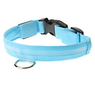 Adjustable High Quality Nylon LED Collar for Dogs (Blue)