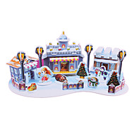 DIY Paper Fairy Tale 3D Puzzle The Little Match Girl (62pcs, difficulty 3 of 5)