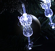 1.5M 10-LED Guitar Shaped White Light String Fairy Lamp for Christmas (3xAA)