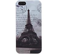 retro Eiffeltoren patroon harde case voor iPhone 5/5s
