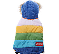 Rainbow Style Cotton Hoodie Coat for Dogs (Blue,XS-XL)