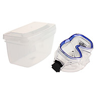 White+Blue Plastic Diving Mask with A Plastic Box